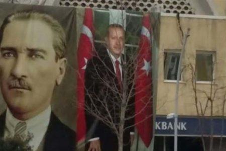 'Açım aç' diye bağırıp Erdoğan'ın posterini indirdi